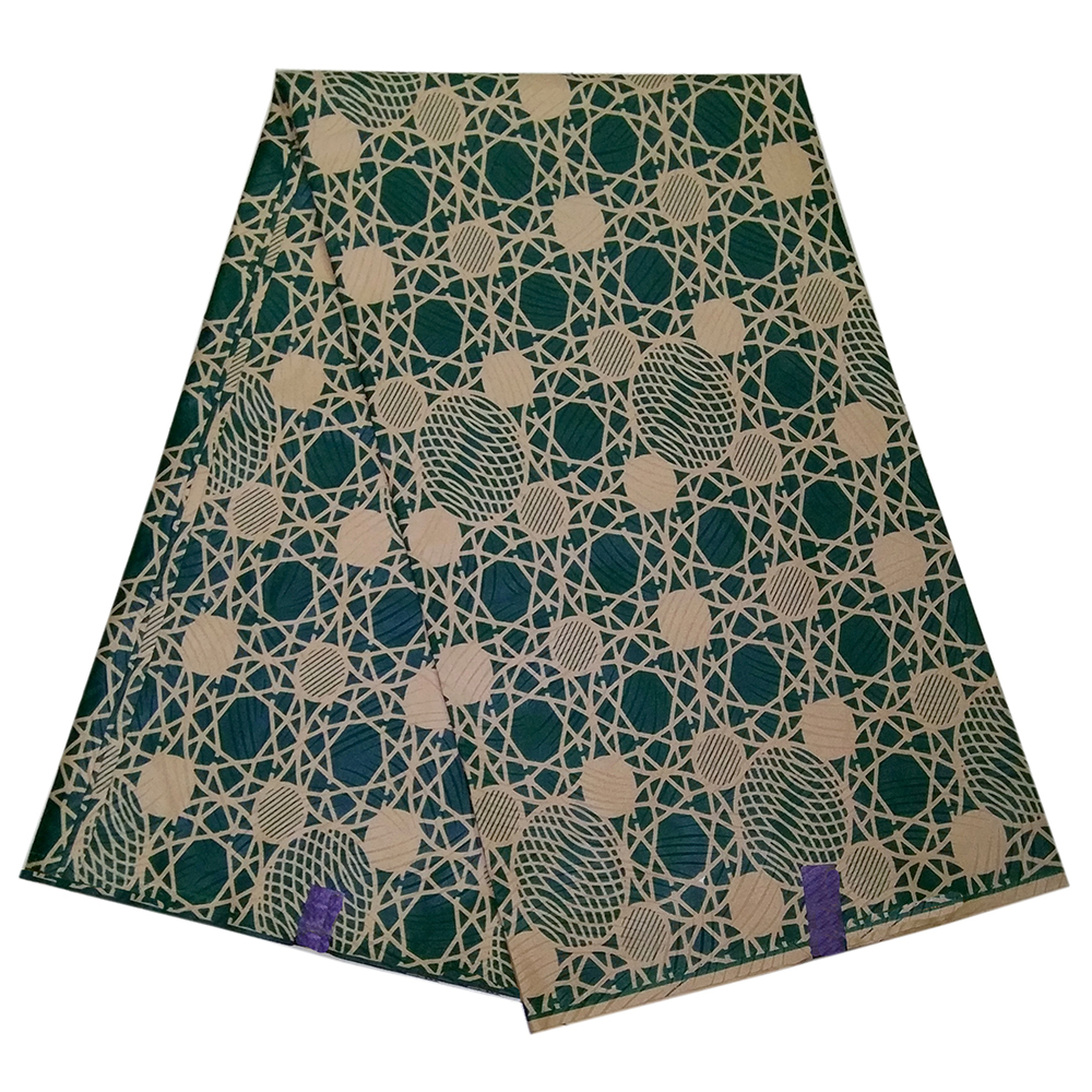 2019 African Gothic Style DIY Fabric Green African Geometric Patterns Print Pagne Wax Fabrcs