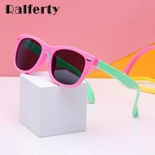 Ralferty TR90 Flexible Kids Sunglasses Polarized Child Baby Safety Sun Glasses UV400 Eyewear Infant oculos de
