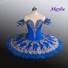 Professional Ballet Blue Bird Tutu Adults With Gold Raymanda Costume Platter Pancake Performance