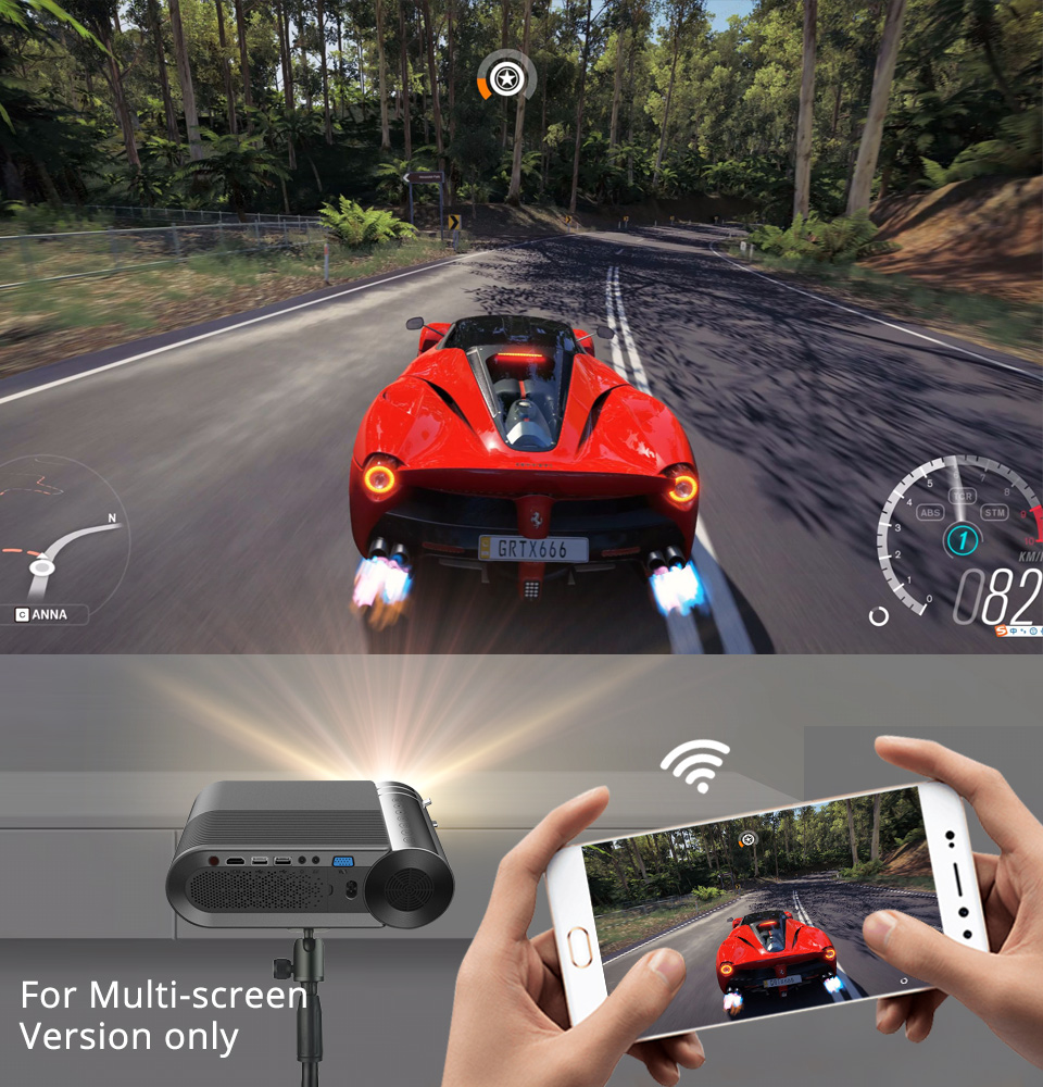 BYINTEK K9 Mini 1280x720P Portable Video Beamer LED Projector Proyector for 1080P 3D 4K Cinema(Option Multi-Screen For Iphone