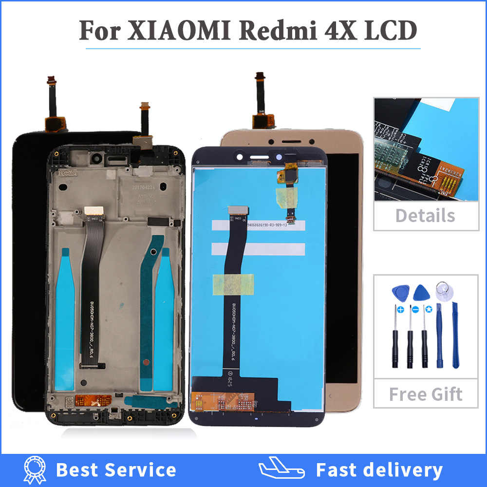 "5.0 ""tela lcd original para xiaomi redmi 4x display de toque digitador com quadro para redmi 4x display lcd 4x pro tela lcd"
