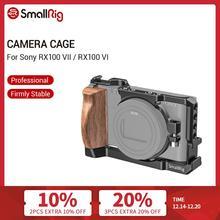 هيكل قفصي الشكل للكاميرا الصغيرة RX100 السابع لسوني RX100 السابع و RX100 VI Dslr قفص مع مقبض جانبي خشبي/حذاء بارد RX100 VI قفص 2434