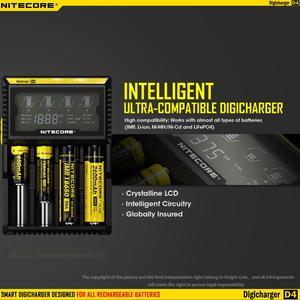 Image 3 - الأصلي Nitecore D4 شاحن بطارية LCD الذكية شحن ل 18650 14500 16340 26650 بطاريات 12 فولت شاحن ل AA AAA بطاريات
