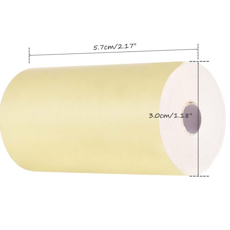 H7ff5c3fbe06948eaaa3ce1f0cdf9598fc - Peripage A6: 3 rouleaux de papier thermique colorés 57*30mm