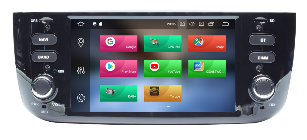 Автомобильный Android 10,0 DVD GPS плеер для FIAT LINEA PUNTO EVO авто радио стерео BT Wifi Восьмиядерный зеркальная ссылка 4 Гб + 64 ГБ карта DVR DAB +