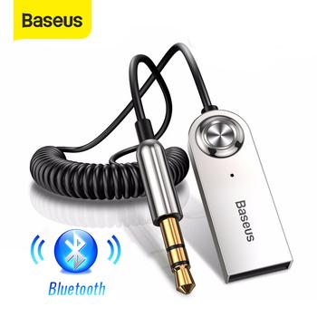 Baseus AUX Adapter Bluetooth Car 3 5mm Jack Dongle Cable zestaw głośnomówiący zestaw samochodowy nadajnik dźwięku Auto Bluetooth 5 0 odbiornik tanie i dobre opinie 15 8*5 5*2 5CM Wireless Bluetooth Receiver Usb2 0 Zinc alloy+ABS Kable Adaptery i gniazda USB Wireless adapter cable 5 meters