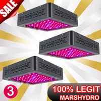 3PCS MarsII 400W Spettro Completo LED Coltiva La Luce per Grow Indoor Sistema Idroponico Veg & Bloom Interruttori