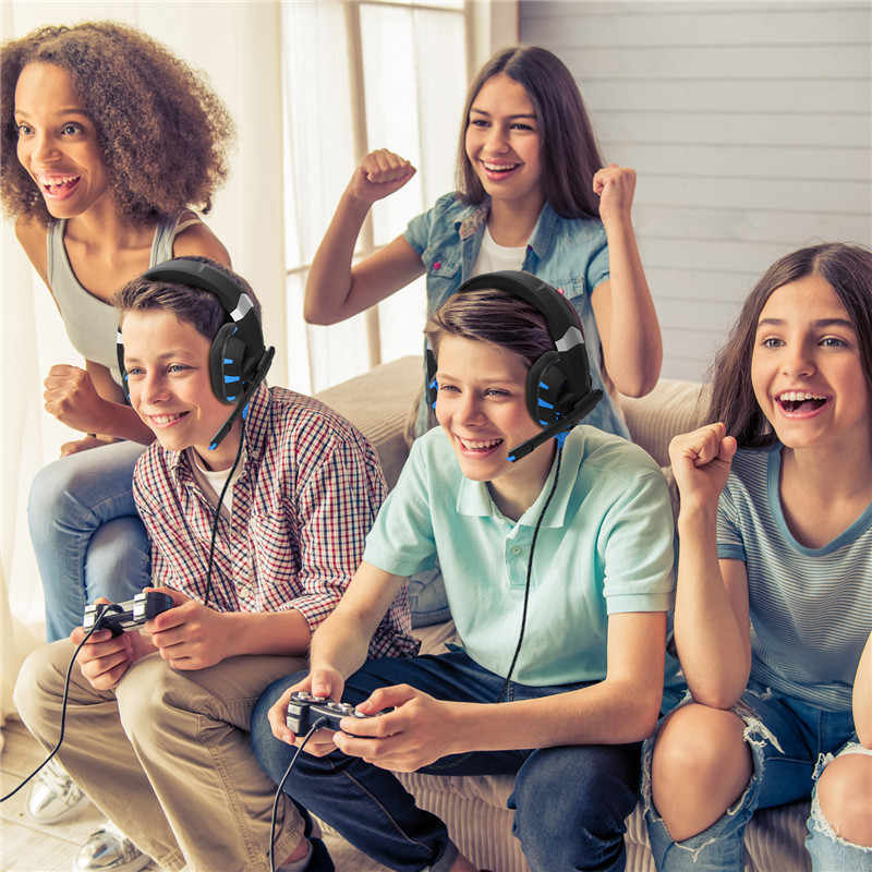 K2A نتوء (غطاء) PS4 سماعة الألعاب PC ألعاب سماعات أذن باص سماعة مع مايكروفون ل ماك نينتندو التبديل جديد Xbox One PUBG ألعاب
