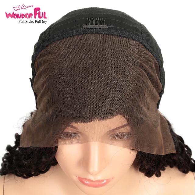 WA... merveilleuse vague profonde 13X4 dentelle avant perruque M Remy cheveux humains perruques couleur naturelle 8-28 pouces WH 13X4 dentelle bricolage profonde