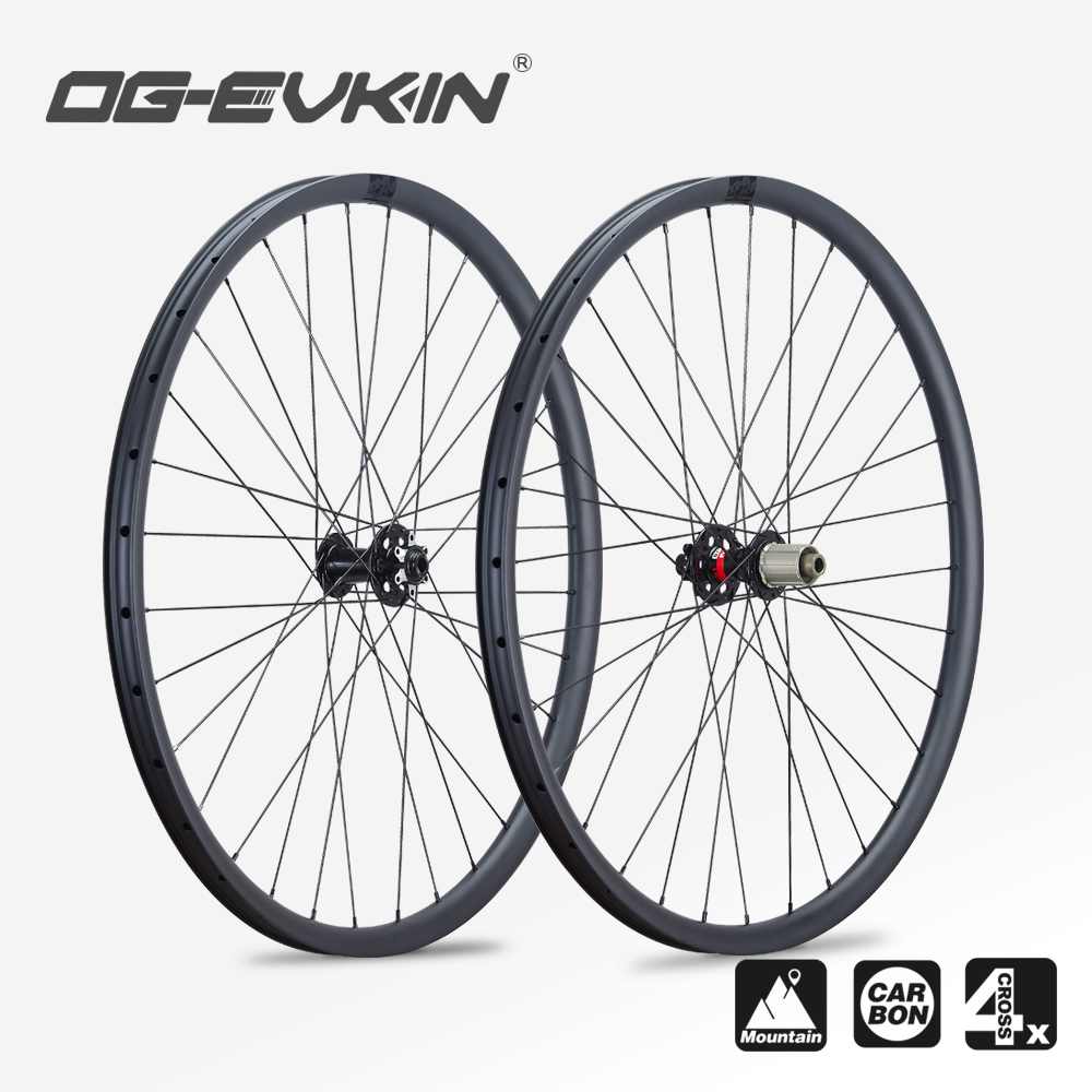 OG-EVKIN MW-001 Mountain Bike Carbon <font><b>Wheels</b></font> 15x100/110mm 12x142/148mm D791SB/D792SB 29er <font><b>6</b></font> Bolts Disc Brake XC Wheelset 11V/12V image