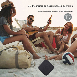 Image 5 - T5 poderoso sem fio bluetooth coluna portátil mini alto falante bluetooth 4.2 coluna ao ar livre soundbox com tf cartão fm rádio