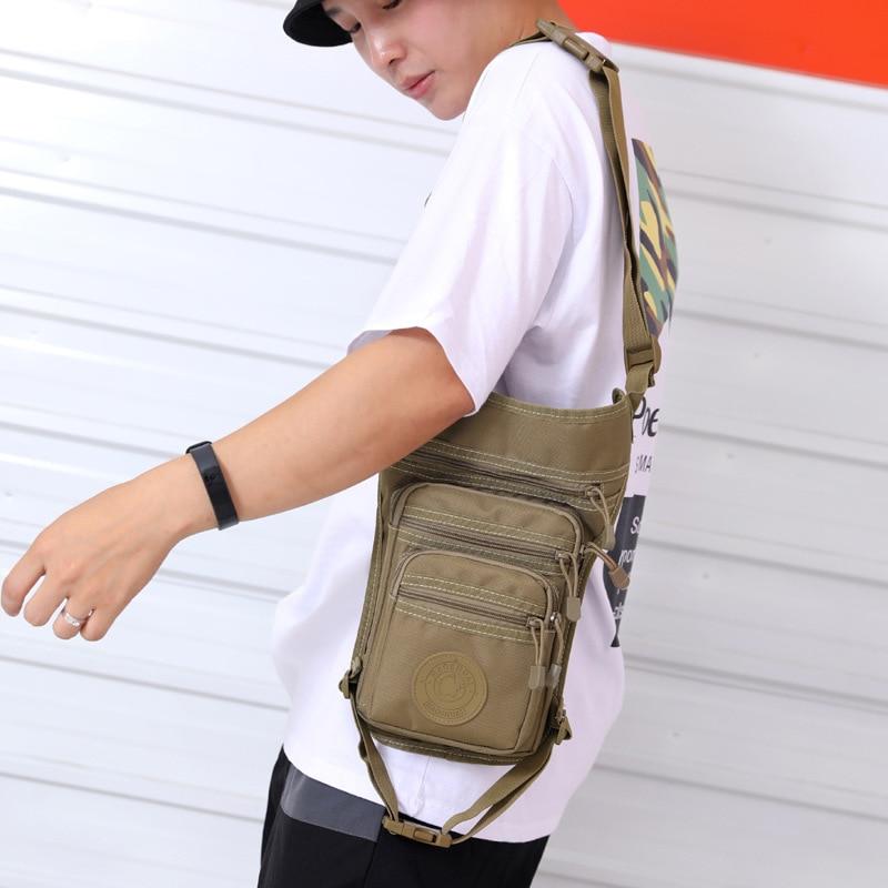 Outdoor Multi-functional Casual Wallet Travel Shoulder Chest Pack Men's Large Saddle Bag Alforja Fan Army Leg Armpit Bag