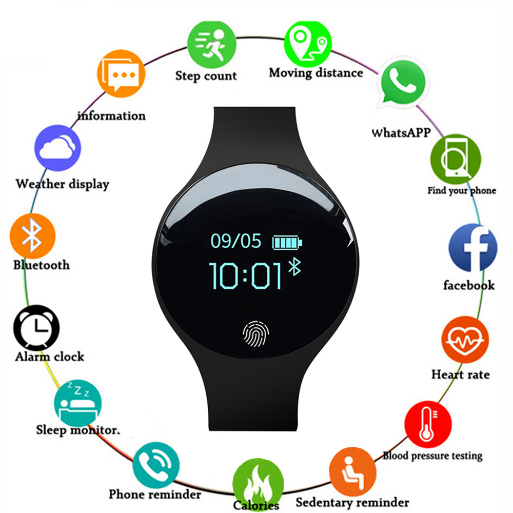 Touch Screen Smartwatch Motion detection Smart Watch Sport Fitness Men Women Wearable Devices For IOS Android