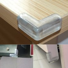 Baby Safety L Shape Transparent Protector Cover Table Corner Guards Children Protection Furnitures Edge Corner Guards(China)