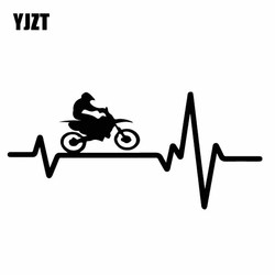YJZT 15.2CM*7CM Coolest Delicate Ride A Bicycle Bike Electrocardiogram Vinly Decal Nice Car Sticker Black/Silver C27-0674