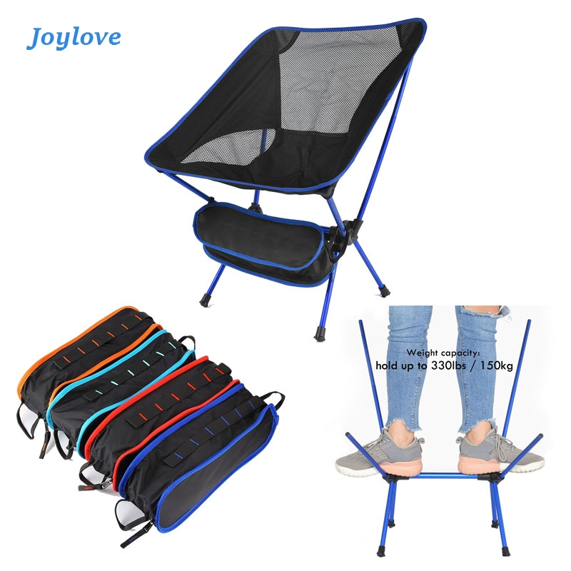JOYLOVE Travel Outdoor Folding Chair Camping Chair Portable Beach Hiking Picnic Seat Fishing Tools Chair 600D Oxford Cloth Metal