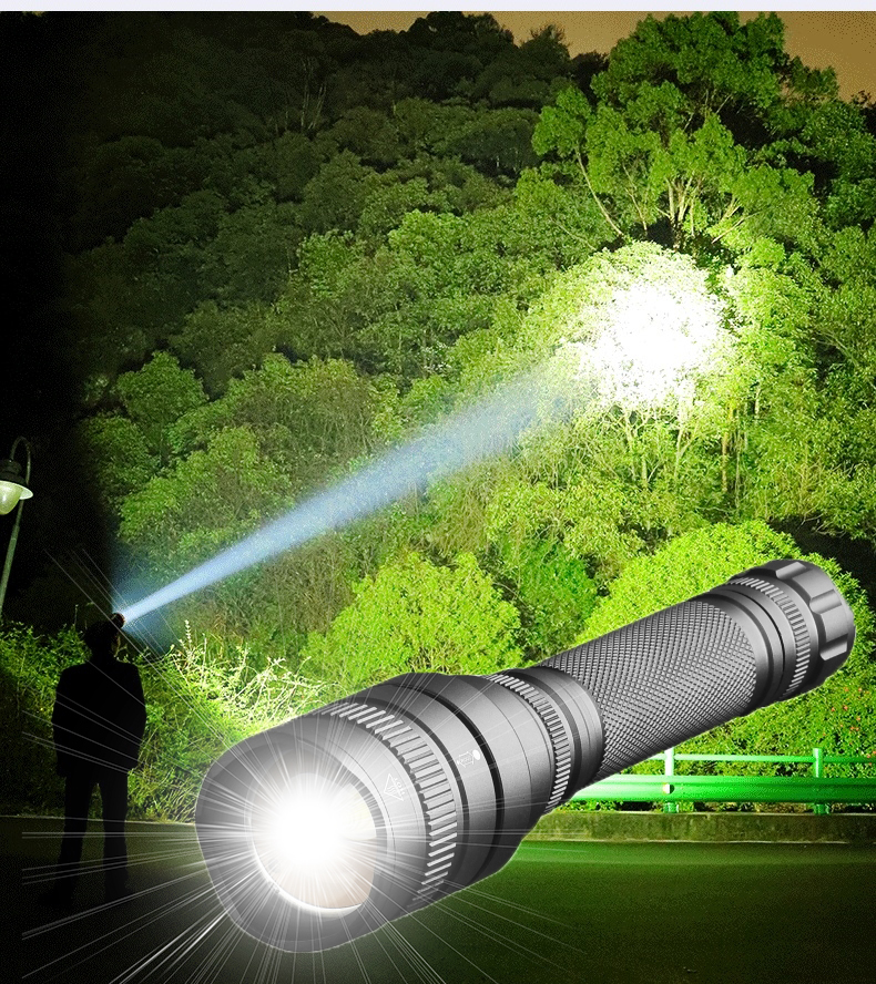 50000 Lumens XHP50 V6 18650 Battery Powerful Linterna Led Zaklamp Tactical LED Flashlight Zoomable Torchlight Best Camping