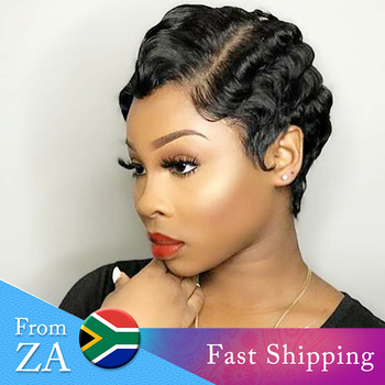 Short Human Hair Wig Pixie Cut Wig Short Finger Wave Curly Human Hair Wig Peruvian Pixie Wig Short Bob Wig Dorisy Remy Wigs Buy At The Price Of 31 46 In Aliexpress Com