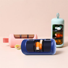 Caixa de pílula de viagem titular portátil medicina armazenamento organizador recipiente 3 grades droga tablet dispensador de plástico caso de pílula caixa selada