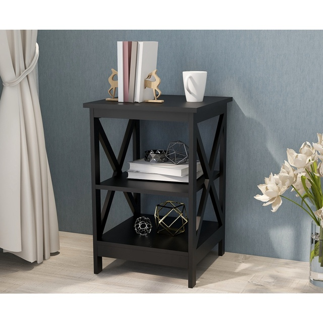 Wooden Square Sofa Side Table 2
