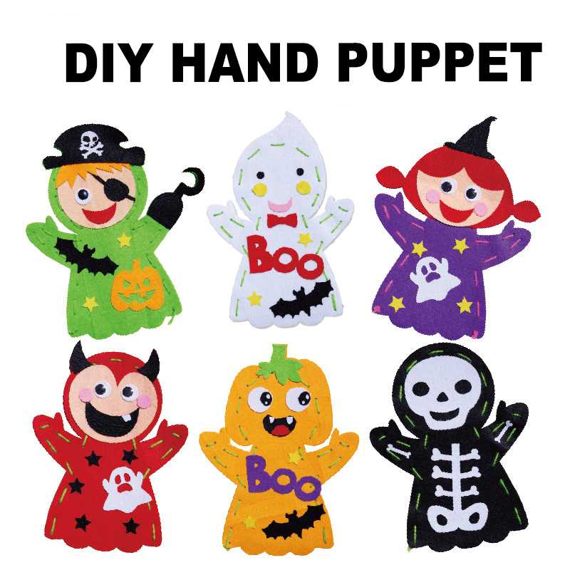 Kindergarten Lots Arts Crafts Diy Toys Cartoon Glove Crafts Kids Finger Educational For Children's Toys Fun Girl/boy Gift 16916