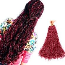 Sallyhair, Zizi, косички, вязанные крючком, коробка, косички, цветные синтетические волосы для наращивания, коричневый, блонд, фиолетовый, вязанные волосы, 50 прядей/упаковка