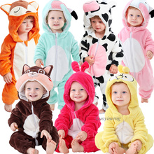Winter Newborn Baby Clothes Inflant Rompers Overalls Cute Ca