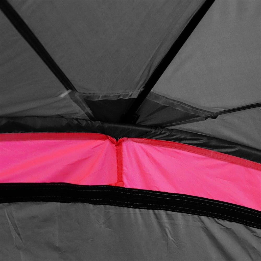 Outsunny Zelt Wasserdicht UV Für 6 Menschen strand Camping polyester 330x330x255 cm schwarz und - 5