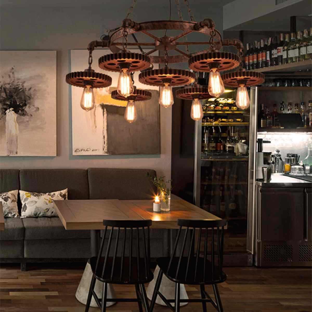 Retro pendant lamp Iron Fixture LED Ceiling Lamp Industrial ...