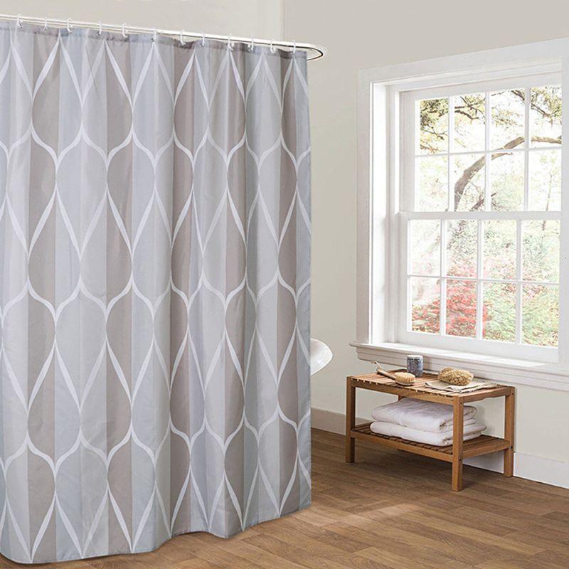 European Style Shower Curtain Bathroom Fall Curtains Waterproof Cloth for Shower Room Bath Use-4