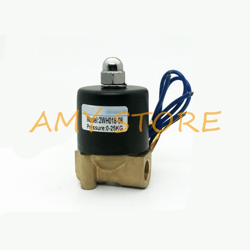 High Pressure 0-25KG Methane Gas Fuel Propane 2Way NC Solenoid Valve 1/4