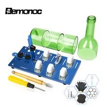 DIY מקצועי זכוכית בקבוק קאטר כלי עבור בירה יין DIY בקבוקי חיתוך זכוכית בקבוק קאטר לחתוך מכונה & ביצוע נברשת