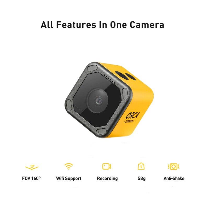 Voorverkoop Caddx Orca 4K HD Opname Mini FPV Camera FOV 160 Graden WiFi Anti Shake DVR Actie Cam voor RC Racing Drone Vliegtuig - 4