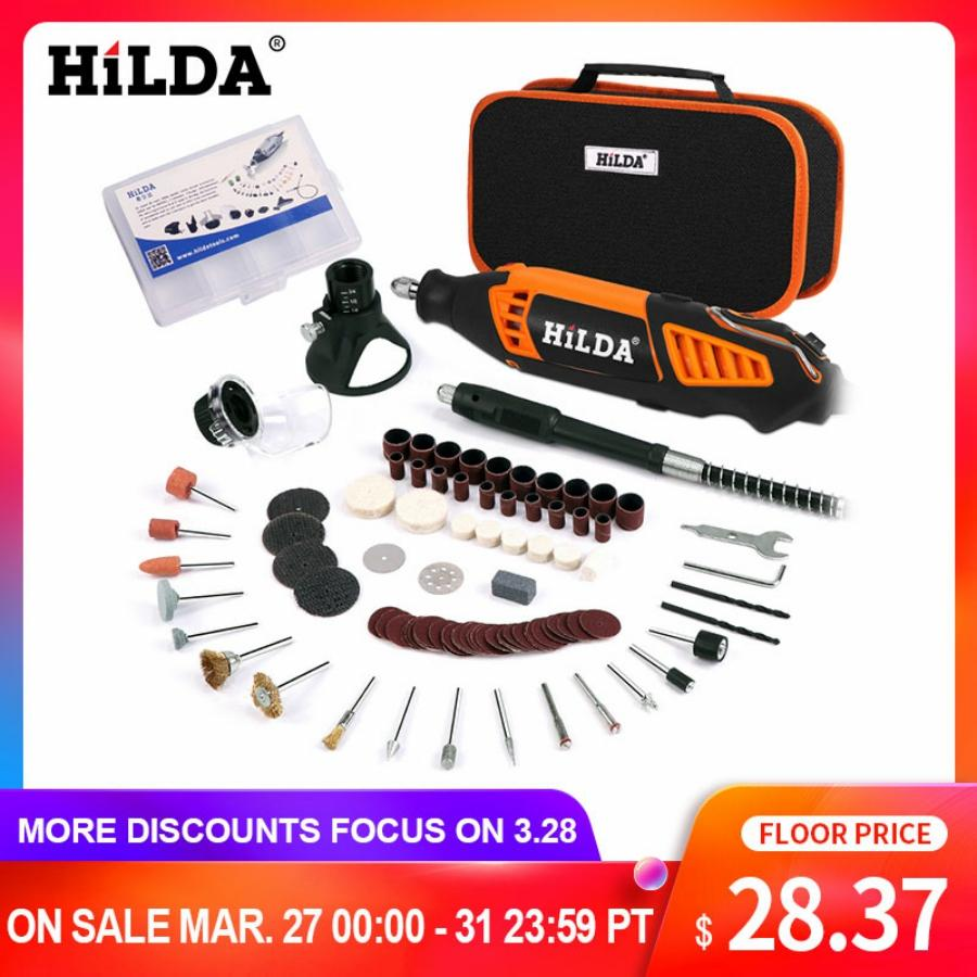 HILDA Electric Mini Drill Variable Speed Rotary Tool For Dremel Mini Electric Grinder Dremel Accessories drill machine