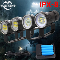 50000Lumens Scuba Diving Flashlight XHP70/90 LED Photography Video light underwater 200m waterproof Tactical torch Lamp 2019