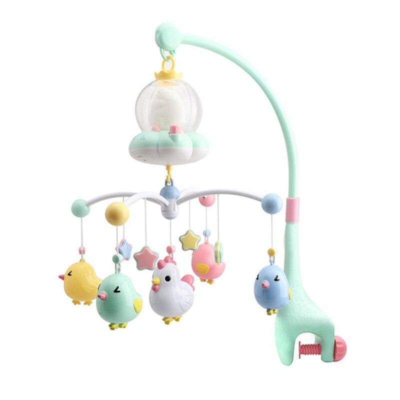 Hochet et Mobiles pour bébés à rotation musicale de 0 à 12 mois, avec télécommande, anneau de dentition, pendentif hochet, Projection, jouet sensoriel, éducation précoce