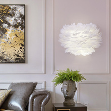 Nordic LED White Feather…