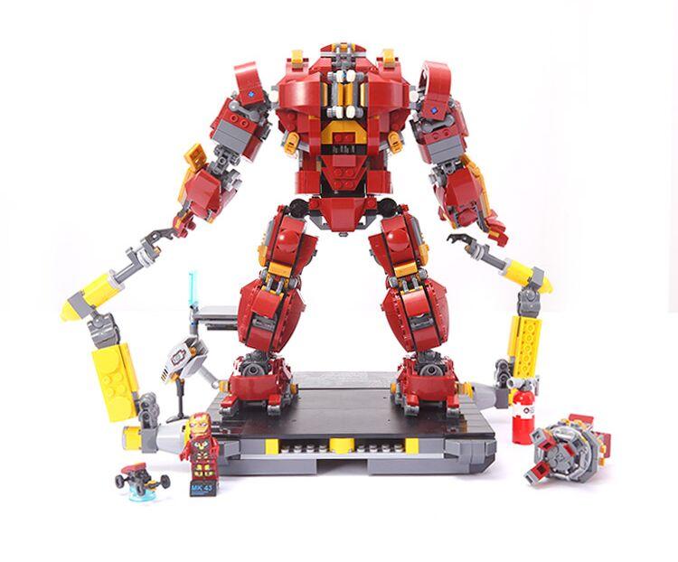 Hulkbuster LegoEAS Marvel Super Heros Ironman 76105 Avengers Set Kit de construction de briques blocs empilables enfants jouets cadeaux 07101-in Blocs from Jeux et loisirs    3