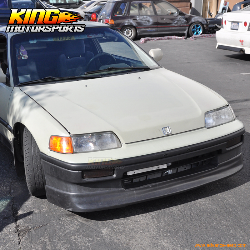 Fit 88-91 Honda CRX CS Style PU Front Bumper Lip Spoiler Poly Urethane
