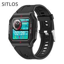 Sitlos p10 relógio inteligente 2021 ip67 à prova dip67 água 13 modos de esportes fitness rastreador tela toque completa smartwatch para ios android