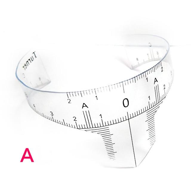 Plastic Eyebrow Tattoo Stencils Microblading Reusable Makeup Brow Measure Eyebrow Guide Ruler Permanent Tools 1