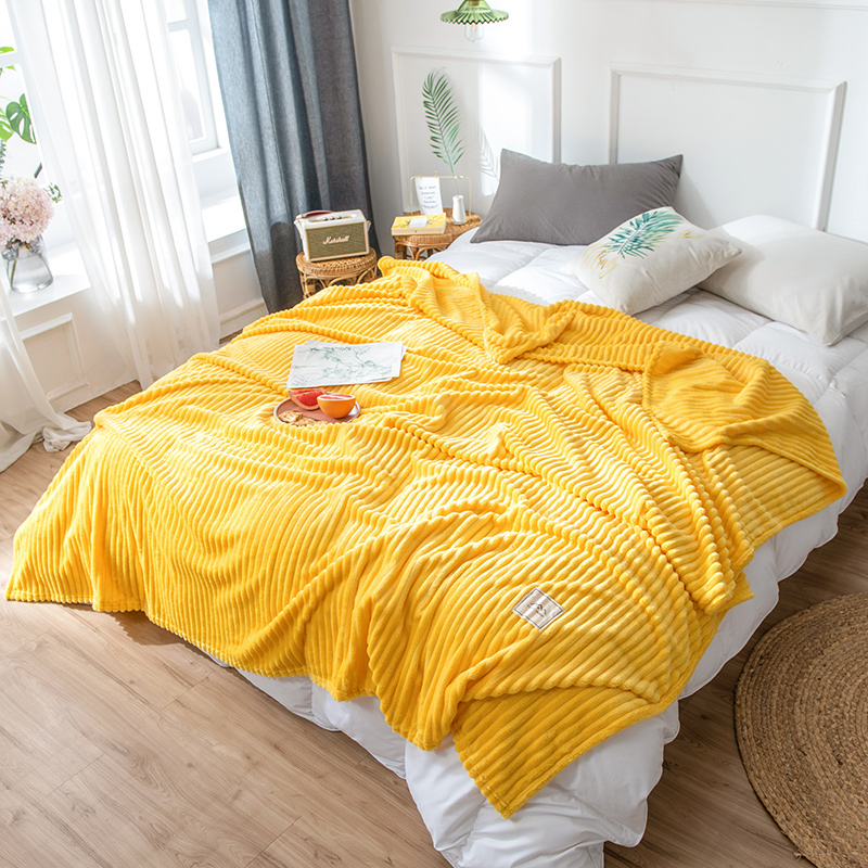 Blankets For Beds Solid Yellow Blue Grey Color Soft Warm Square Flannel Blanket Fleece Blankets And Throws Sofa Cover Bedspread 1