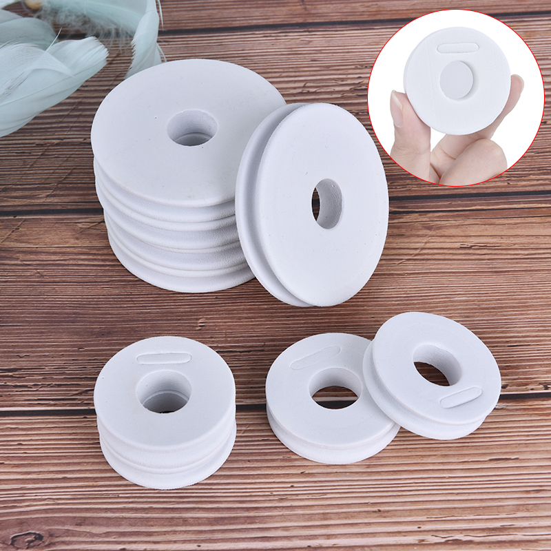 20Pcs Fishing Line Foam Boards White Foam Winding Main Coil Board Plate Fishing Line Fishing Spool Tool