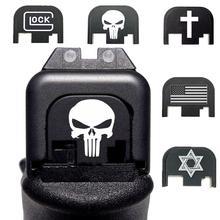 Алюминий задняя крышка слайд задняя пластина для Gen на возраст 1, 2, 3, 4, Glock 17 19 21 22 23 25 26-30-40; 9 мм. 45 пистолет магвелл аксессуары