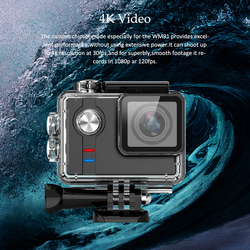 Action Camera SO91 Sports Action Video Camera HD 4K 12MP Action Camera 60M Waterproof WIFI Bluetooth Helmet Video Cam