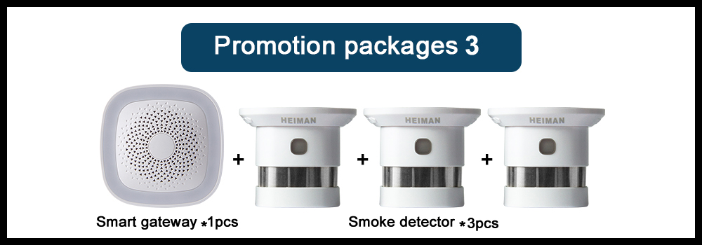 H7ff80b2910bd46a7a65926182b196dcav - HEIMAN HA1.2 Zigbee Fire Alarm Wireless Security home System Smart Wifi gateway and Smoke detector sensor host DIY Kit