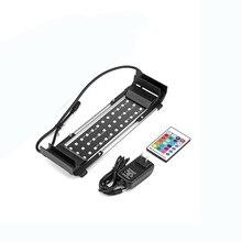 цена на 8W 5050 SMD 36LED Aquarium Light Remote Control RGB Lighting For Aquarium Dimmable Fish Tank Lamp UK/EU/US Plug Luz Verlichting