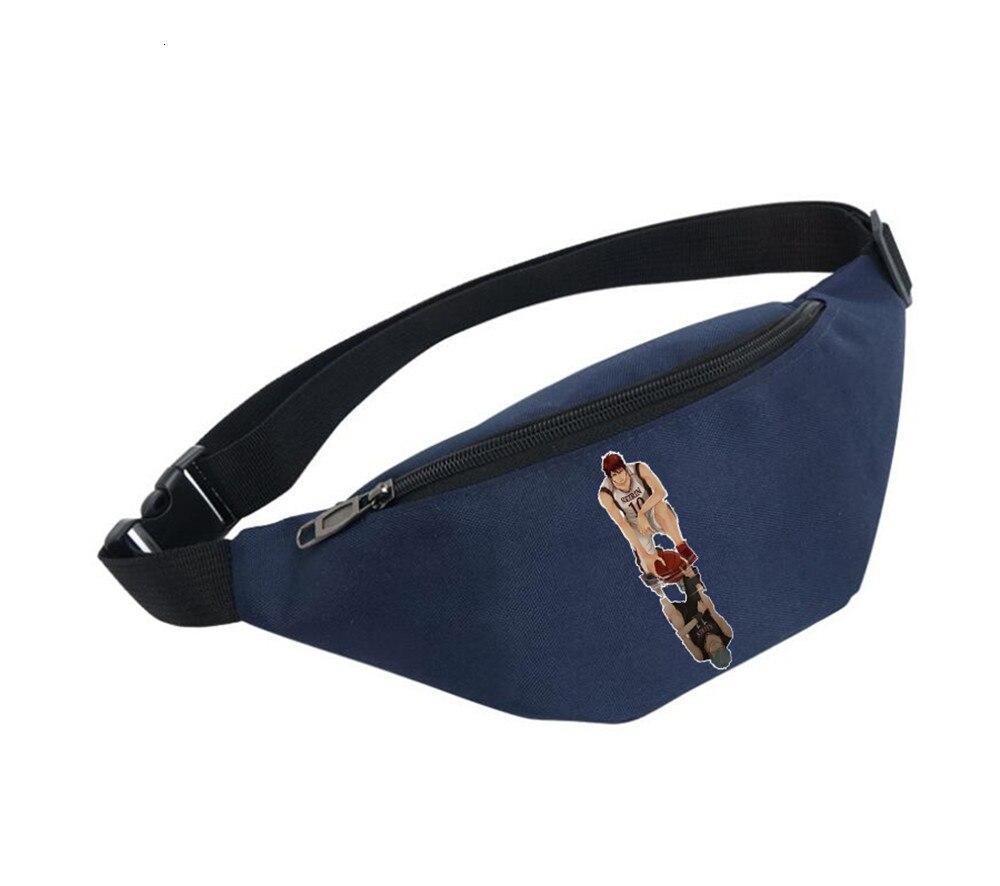 Waist Bag Women Belt Waterproof Chest Handbag Unisex Fanny Pack Ladies Waist Pack Belly Bags For Anime Kuroko Tetsuya