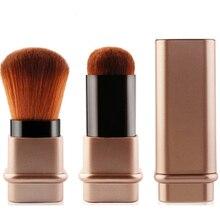Portable 1Pcs Retractable Brush Small Telescopic Brush Cosmetic Face Blusher Adjustable Powder Foundation Blush Brush for Travel недорого