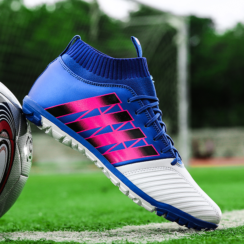 Mens Kids Soccer Shoes Indoor Turf Futsal Sneakers TF Football Cleats Trainers